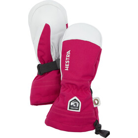 Hestra Army Leather Heli Ski Fäustlinge Kinder fuchsia